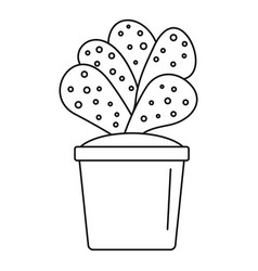 house cacti pot icon outline style vector image