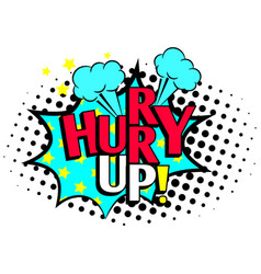hurry up cartoon icon vector image