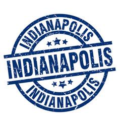 Indianapolis blue round grunge stamp vector