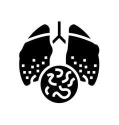 Infectious disease tuberculosis glyph icon vector