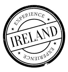 Ireland stamp rubber grunge vector