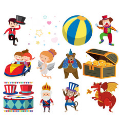 Isolated set different characters vector