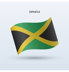 Jamaica flag waving form vector