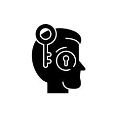 key employee black icon sign on isolated vector image