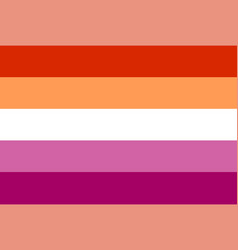 Lesbian flag rectangular shape icon vector