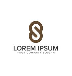 Letter s luxury logo design concept template vector