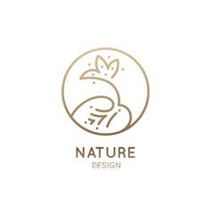 logo lotus vector image
