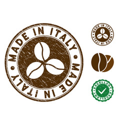 made in italy stamp with dust style vector image