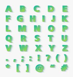 modern gradient paper cut alphabet letters vector image