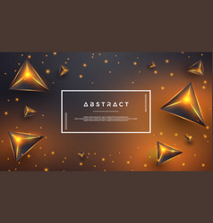 orange abstract background with 3d style vector image