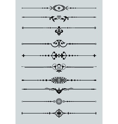 Ornamental lines vector