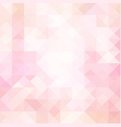 Pale pink geometric triangle background vector