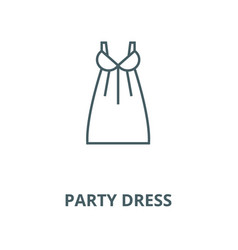 party dress line icon linear concept vector image