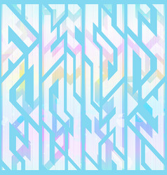 pastel color geometric pattern with grunge effect vector image
