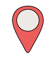 pin location isolated icon vector image
