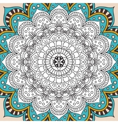 Printable antistress coloring book page for adults vector image