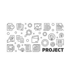 project concept outline or vector image