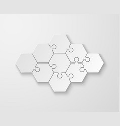 puzzle pieces white blank thinking puzzles vector image