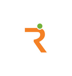 R letter people logo vector