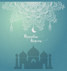 ramadan kareem greeting card islamic vector image