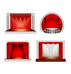Realistic stage design set vector