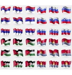 Republika Srpska Slovenia Jordan Kiribati Set of vector