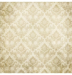 Seamless white floral background vector