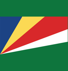 Seychelles flag for independence day and vector