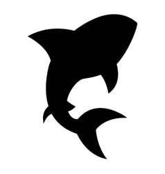 Shark signal silhouette icon vector