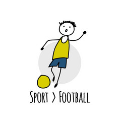 sport icon design football player vector image