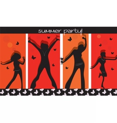 Summer Party People vector