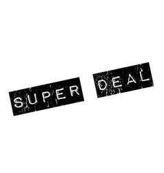 super deal rubber stamp vector image
