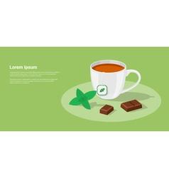 tea with chocolate vector image