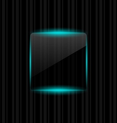 Transparent frame with reflection on striped vector image