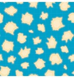 Treasure map pattern vector