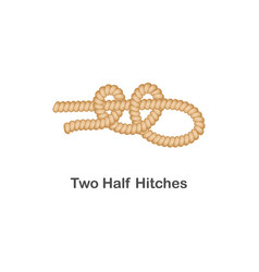 type nautical or marine node two half hitches vector image
