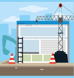 under construction website vector image