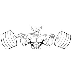 viking gym mascot grit line art vector image