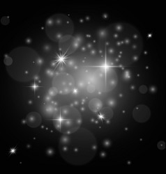 white sparkles christmas isolated stardust vector image