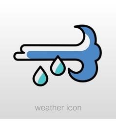 Wind Rain icon Meteorology Weather vector