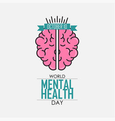 world mental health day background vector image