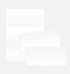 blank paper envelopes for your design vector image vector image