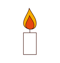 candle on isolated icon vector image
