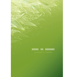 Green glowing leaves vertical template background vector image vector image