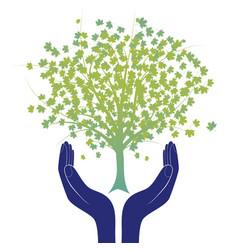 Hope tree hand vector