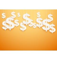 Hung symbols Dollar vector image vector image