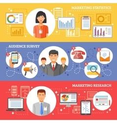 Marketing Plan Banner vector image vector image