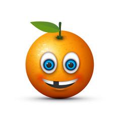 Missing tooth orange vector