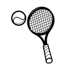 tennis racket and ballon vector image vector image