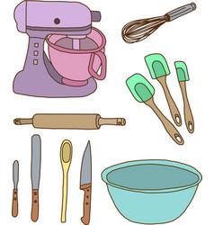 Baking items vector image